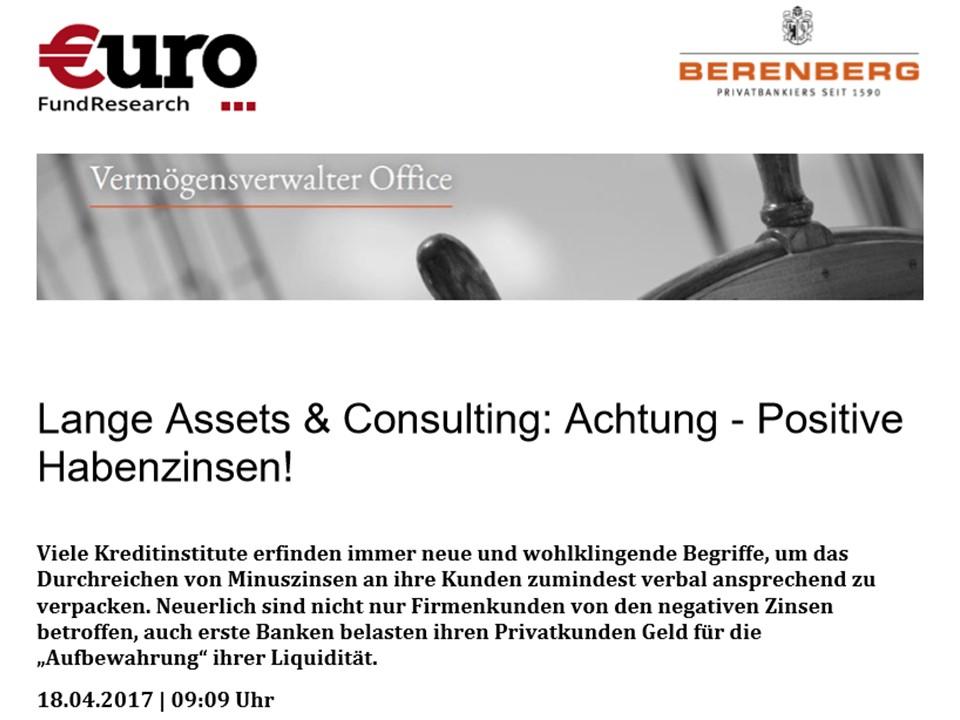 Achtung - Positive Habenzinsen!