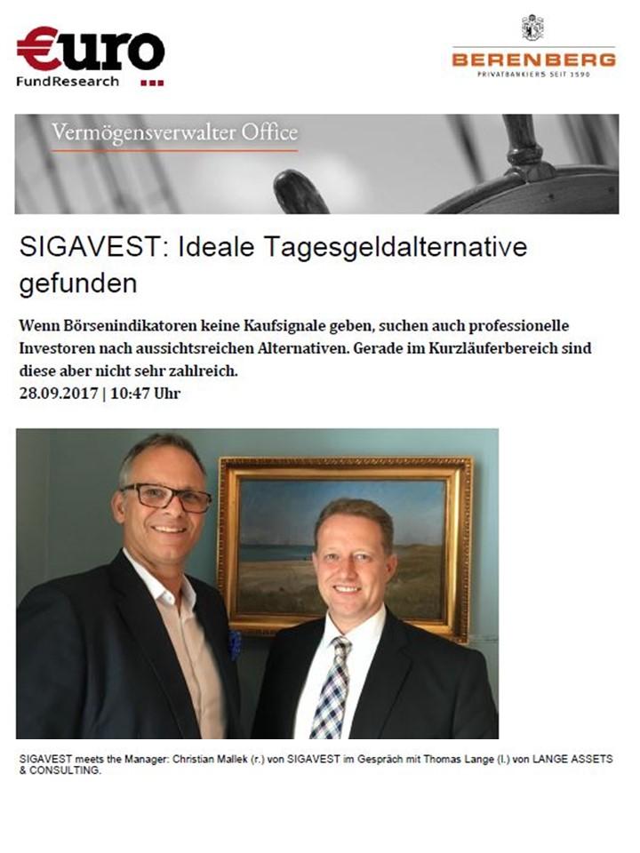 SIGAVEST: Ideale Tagesgeldalternative gefunden